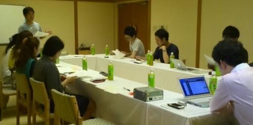 合宿-会議-宮田先生