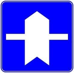優先道路標識