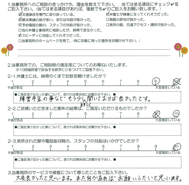 お客様アンケート(交通事故)20160115